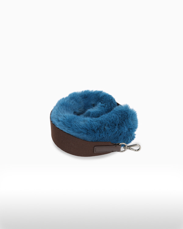 BOHEMIAN FUR STRAPOCEAN BLUE[★ Enjoy Mix & Match with Meeori Bag ★]